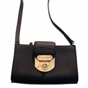 Calvin Klein   Black Crossbody Mini-Bag